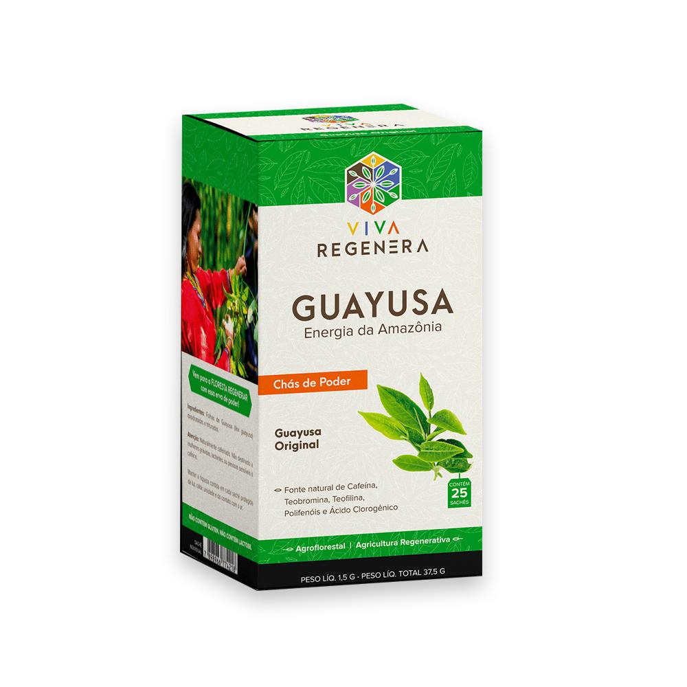 Cha Guayusa Energia da Amazonia 25 Saches Viva Regenera