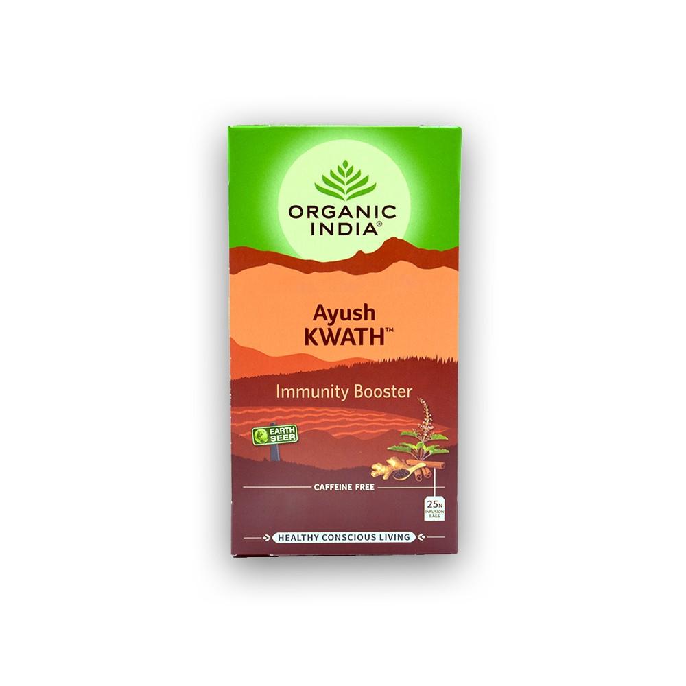 Chá Tulsi Ayush Kwath Imunidade e Resistencia 25 saches Organic India