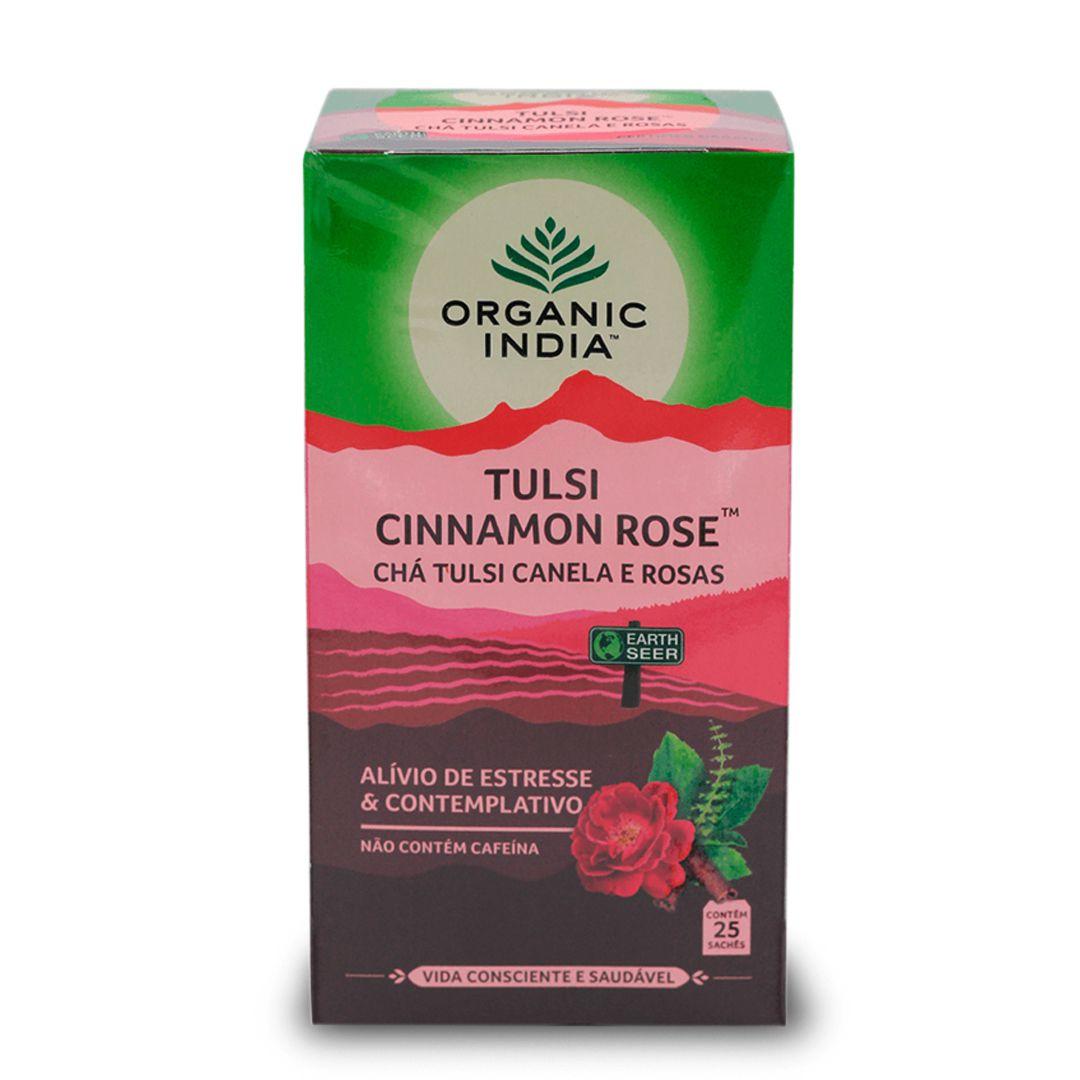 Chá Tulsi Canela e Rosas 25 saches - Organic India