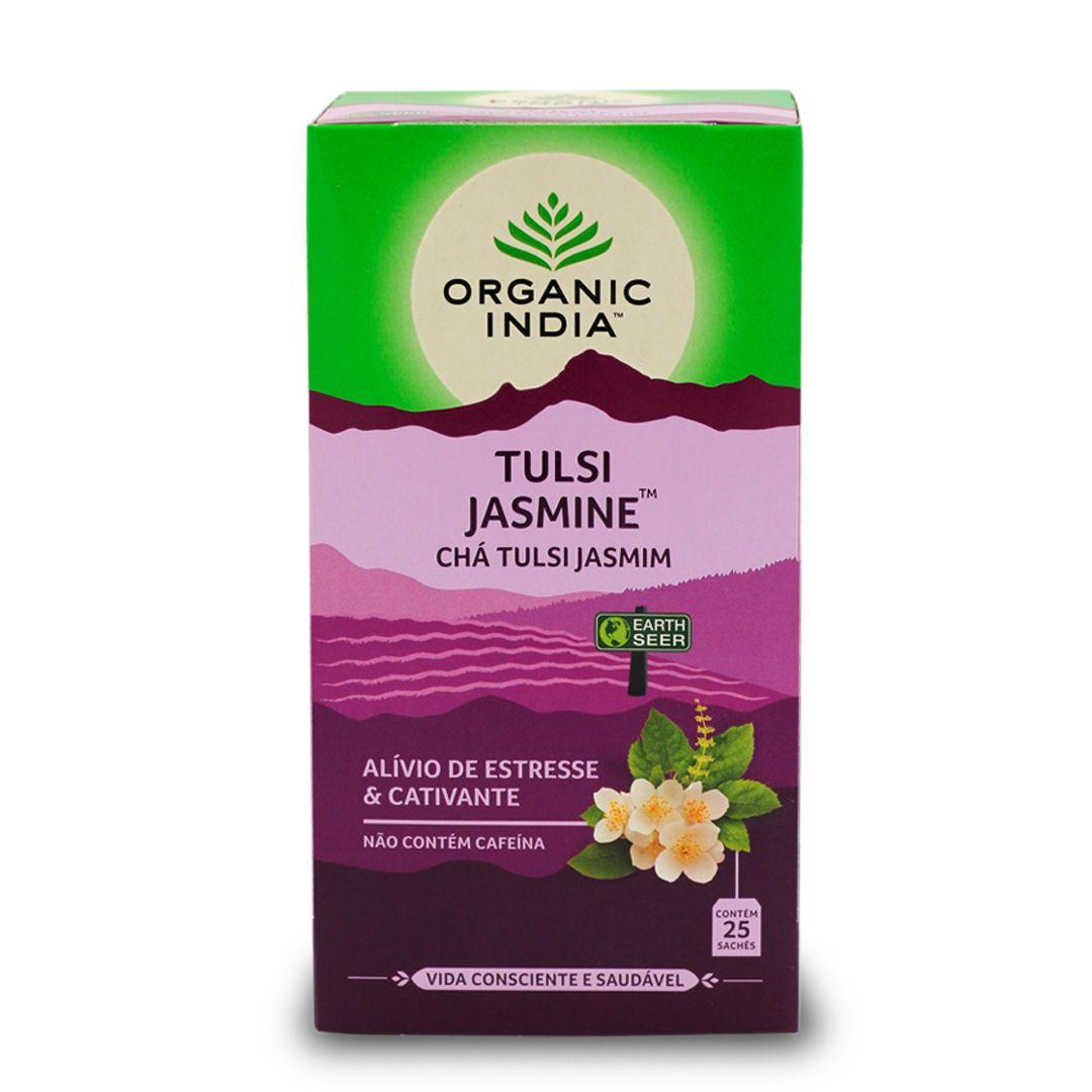 Chá Tulsi com Jasmim 25 saches - Organic India