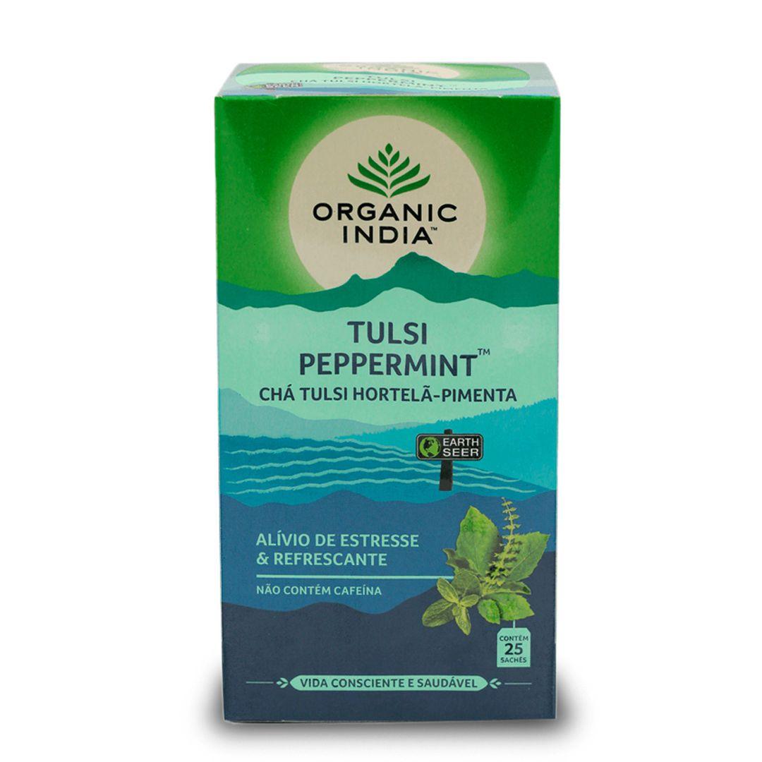 Chá Tulsi Hortelã-Pimenta 25 saches - Organic India