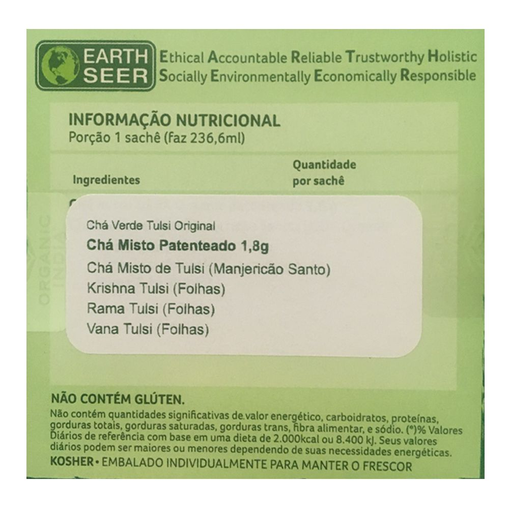 Chá Tulsi Original 25 saches - Organic India