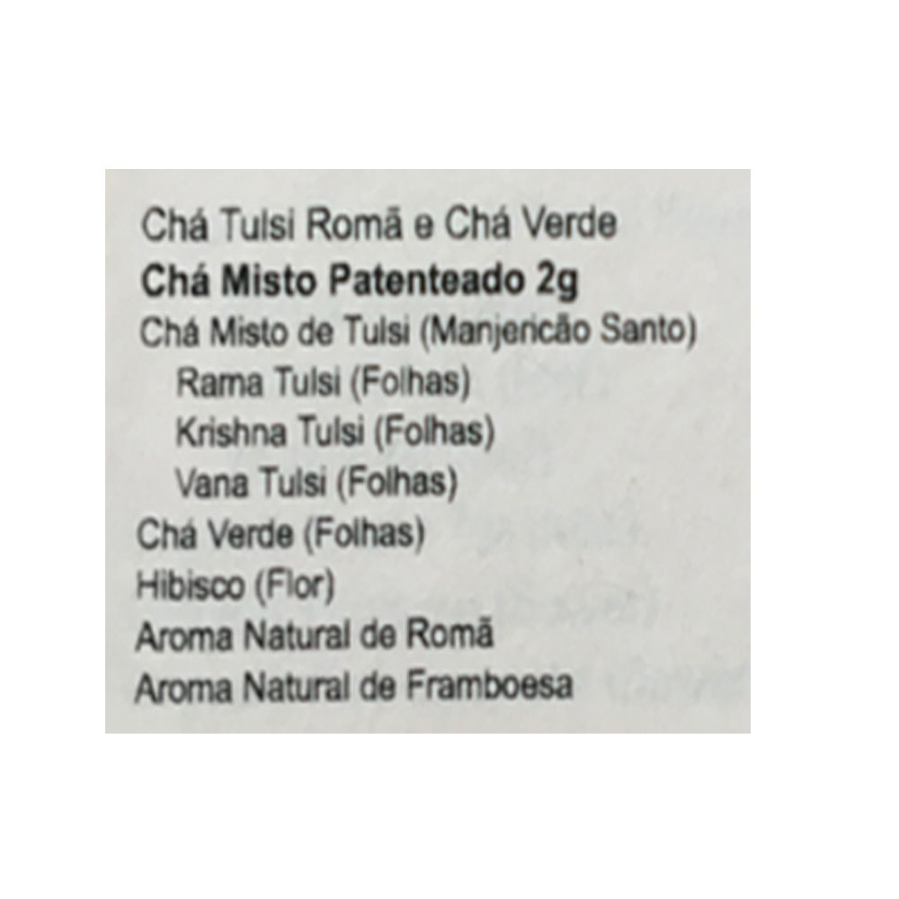 Chá Tulsi Romã e Chá Verde 25 saches - Organic India