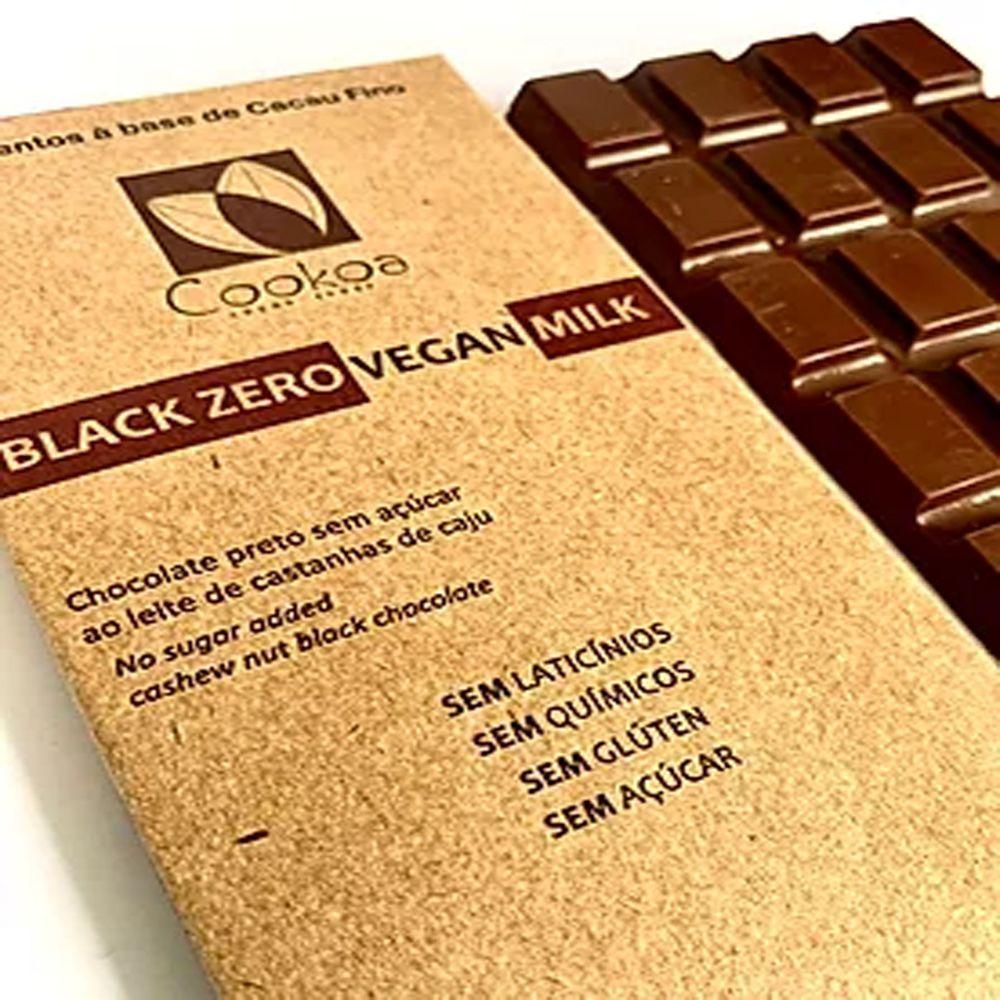 Chocolate Vegano Black Zero 80g 3un. Cookoa
