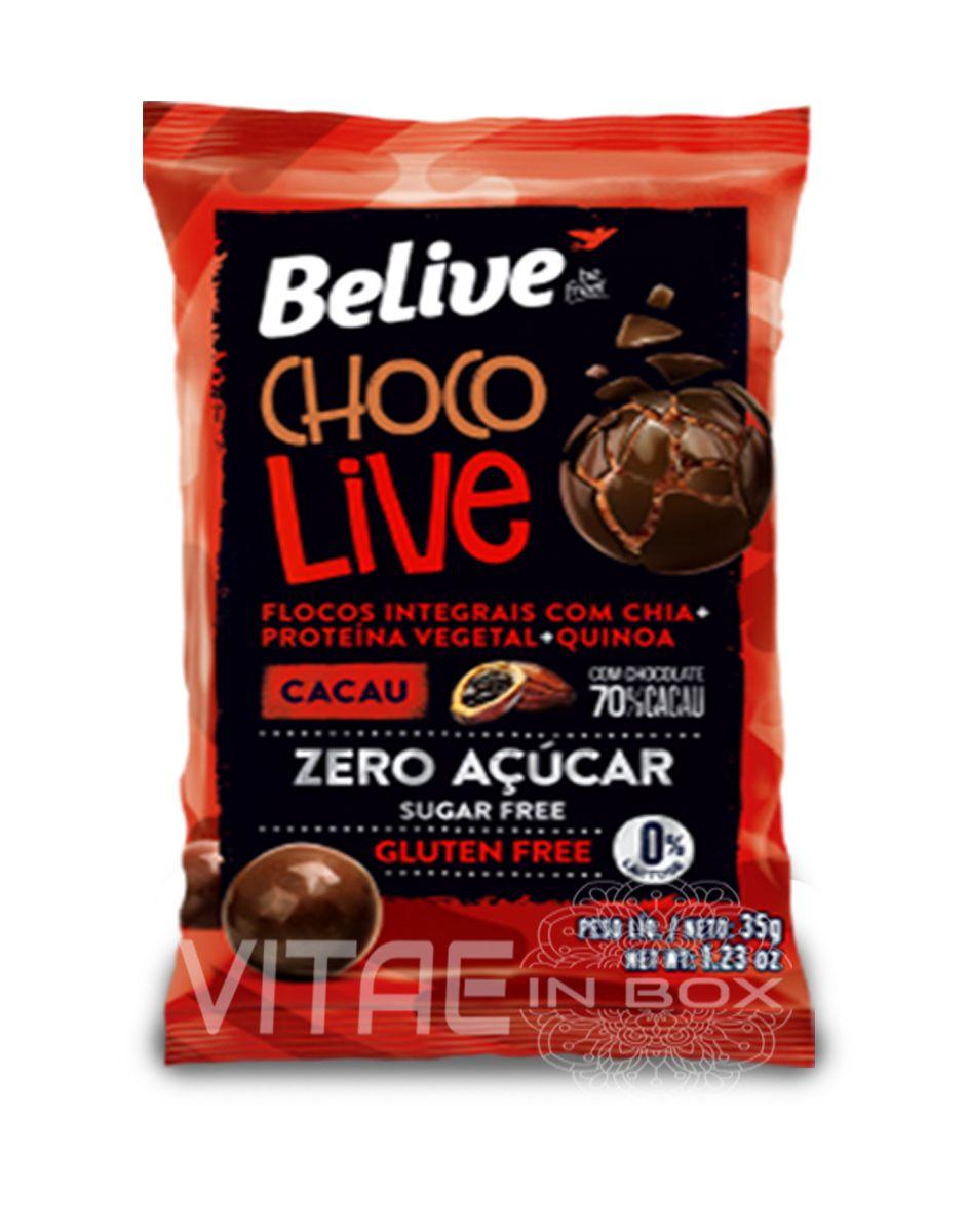 Chocolive 70% Cacau Zero Açucar  Sem Glúten Sem Lactose 35g - Belive