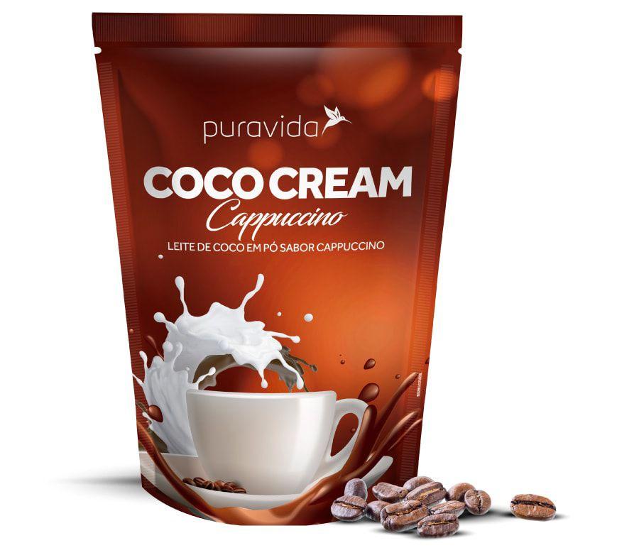 Coco Cream Leite de Coco em Pó Cappuccino 250g - Puravida