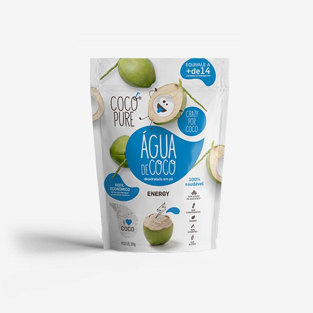 CocoPure Energy Água de Coco em Pó 200g - Five Diamonds