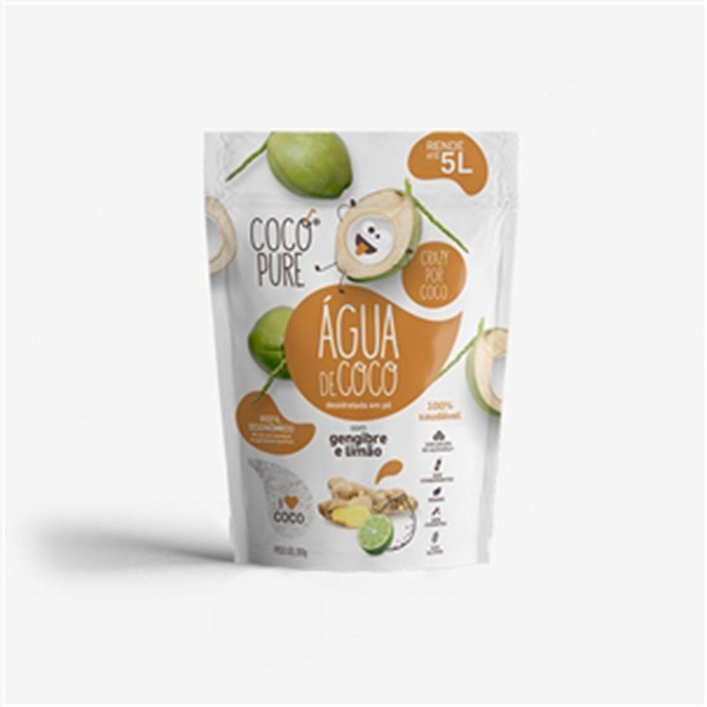 CocoPure Gengibre & Limão Água de Coco em Pó 200g - Five Diamonds