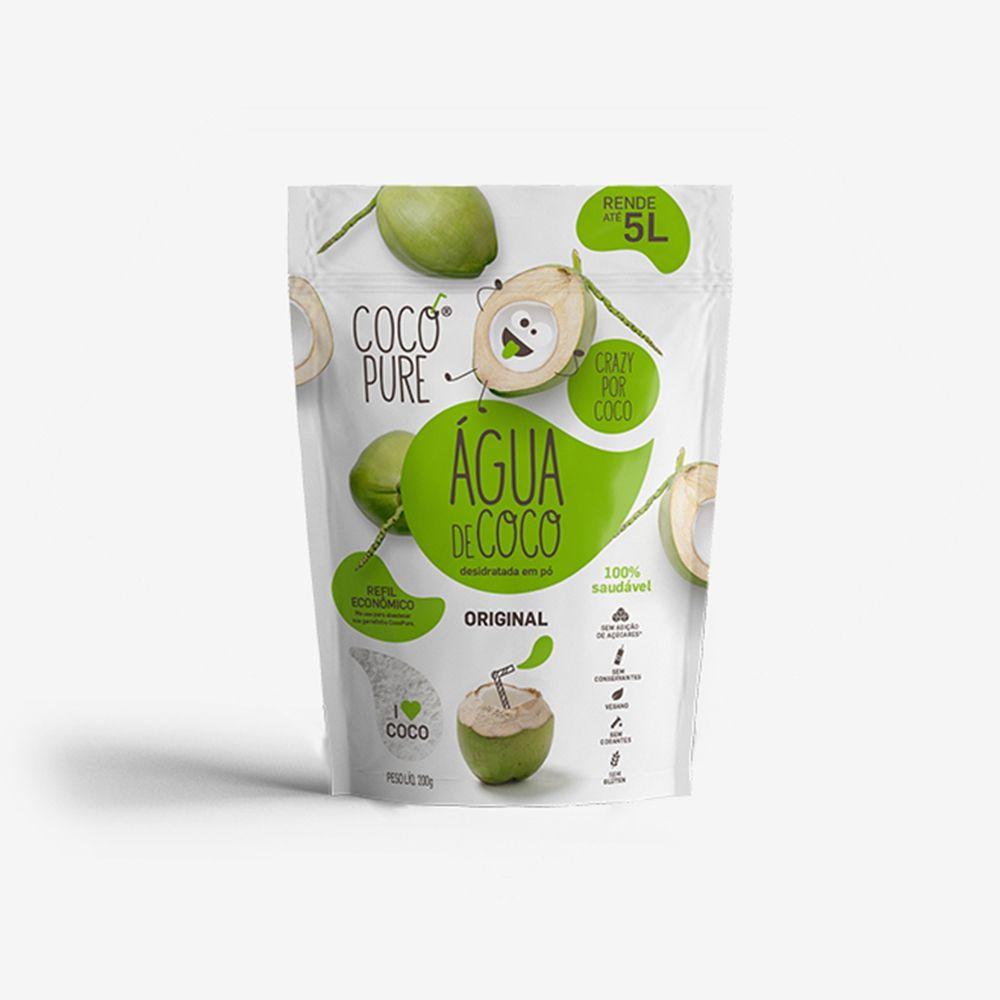 CocoPure Original Água de Coco em Pó 200g - Five Diamonds