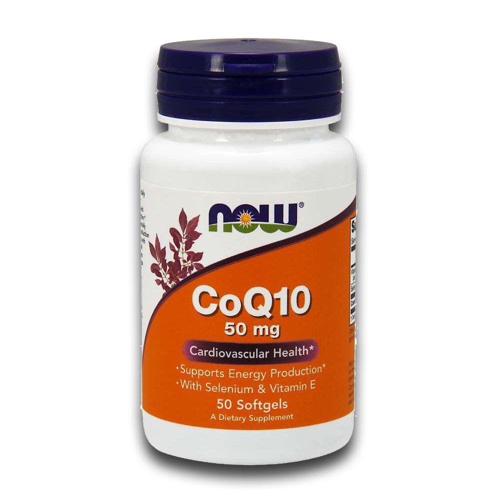Coenzima Q10 CoQ10 50cáps Selênio e Vitamina E NOW