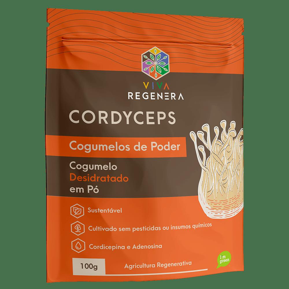 Cogumelo Cordyceps em Pó 100g Viva Regenera