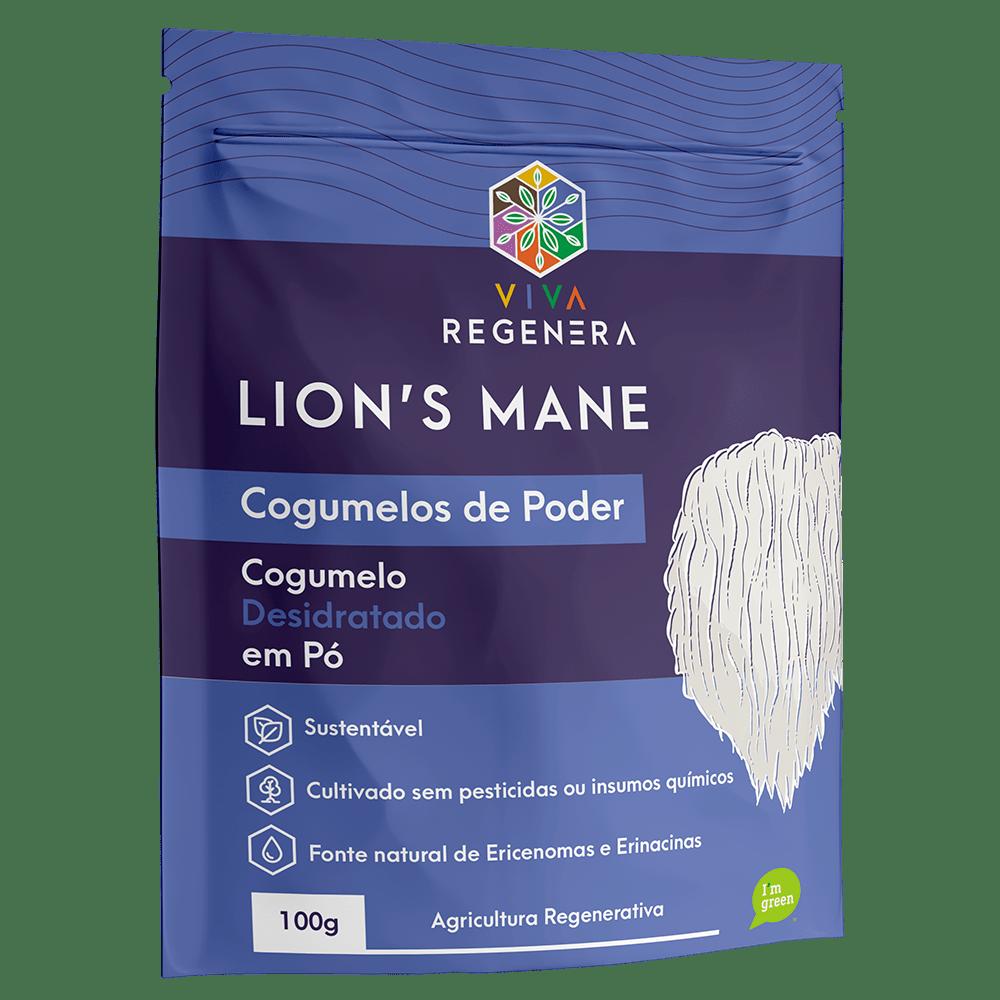Cogumelo Lion's Mane em Pó 100g Viva Regenera