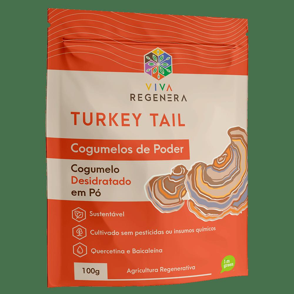 Cogumelo Turkey Tail em Pó 100g Viva Regenera