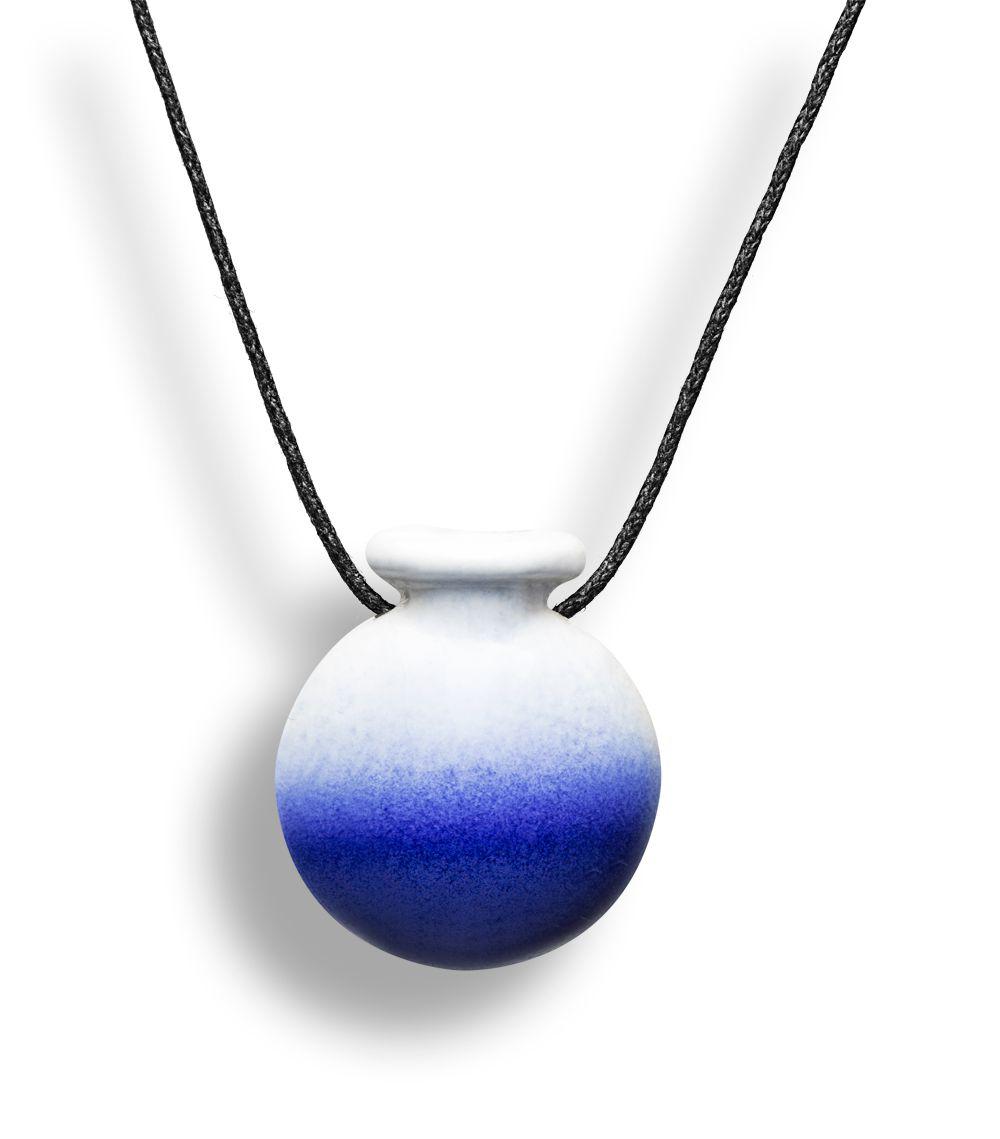 Colar Aromatizador Difusor Pessoal Cantil Azul Ortega
