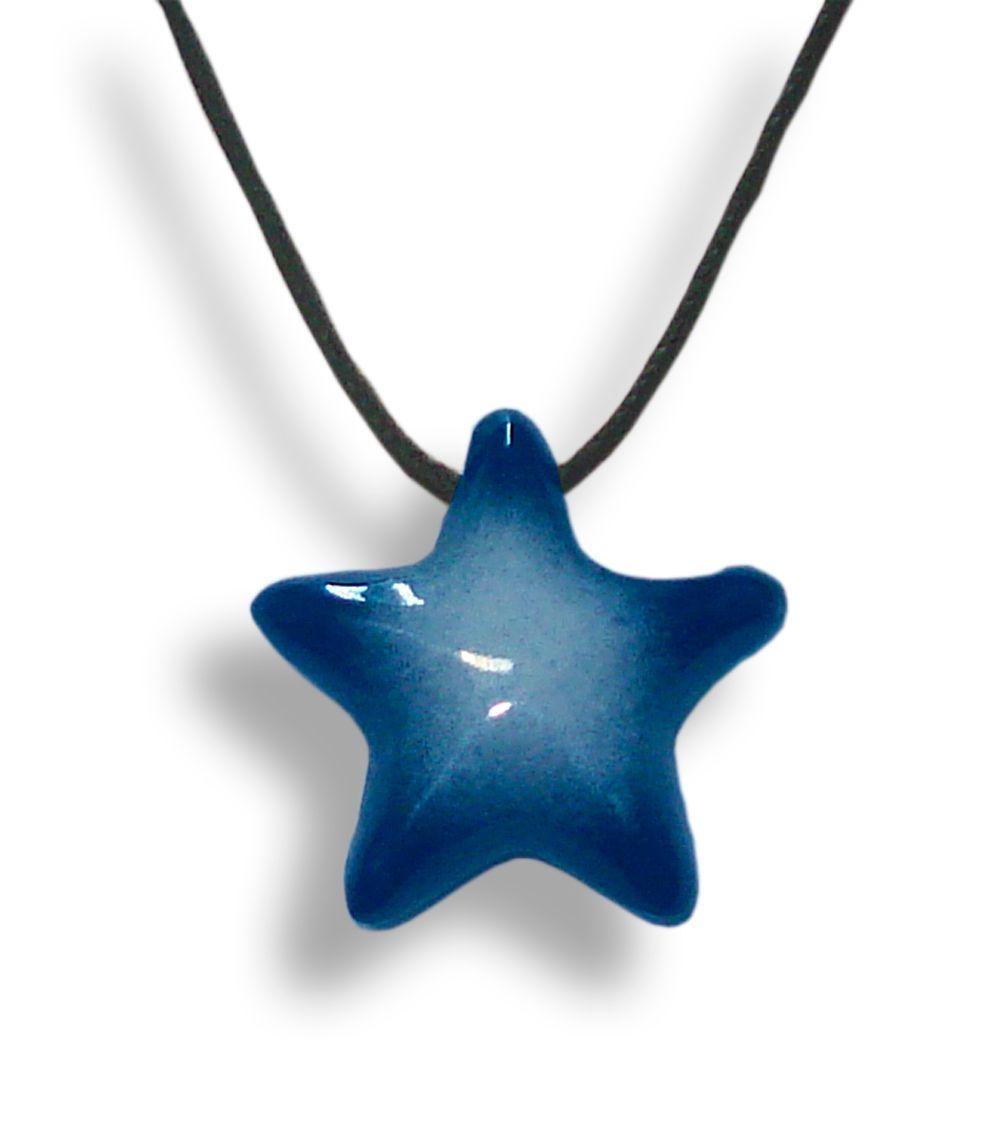Colar Aromatizador Estrela Azul Difusor Pessoal Ortega