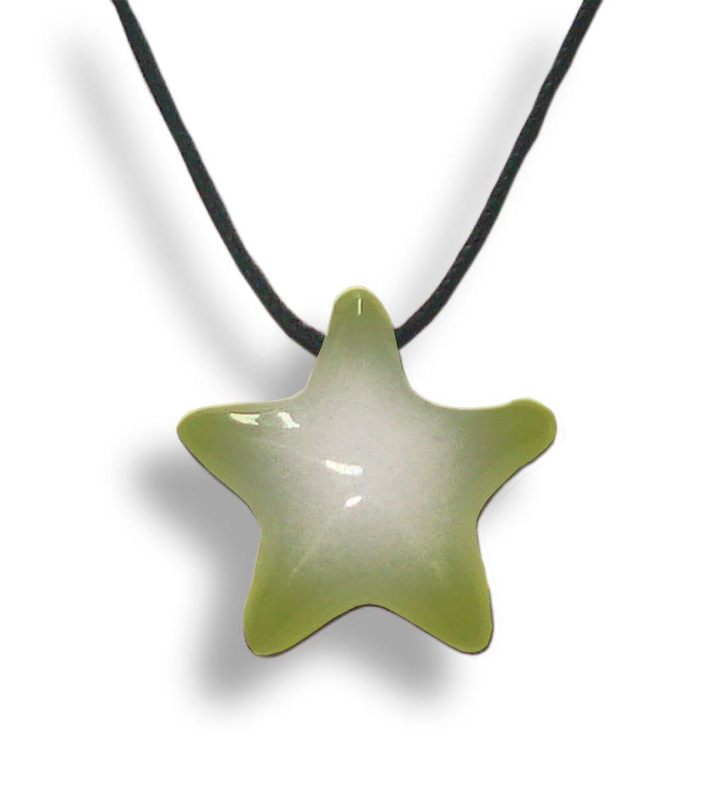 Colar Aromatizador Estrela Verde Difusor Pessoal Ortega