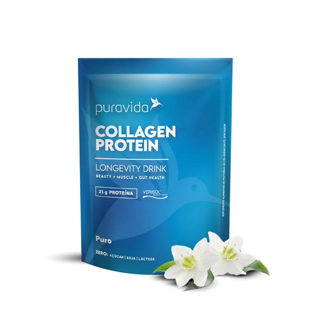 Collagen Protein Puro Proteina de Colageno Sem Sabor 450g Puravida