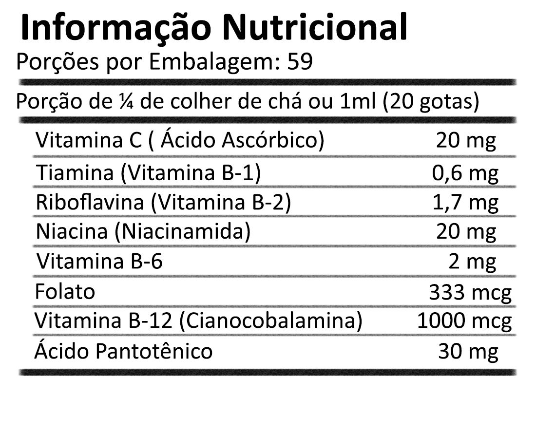 Complexo B Vitamina B12 Líquida Vegan 59ml NOW