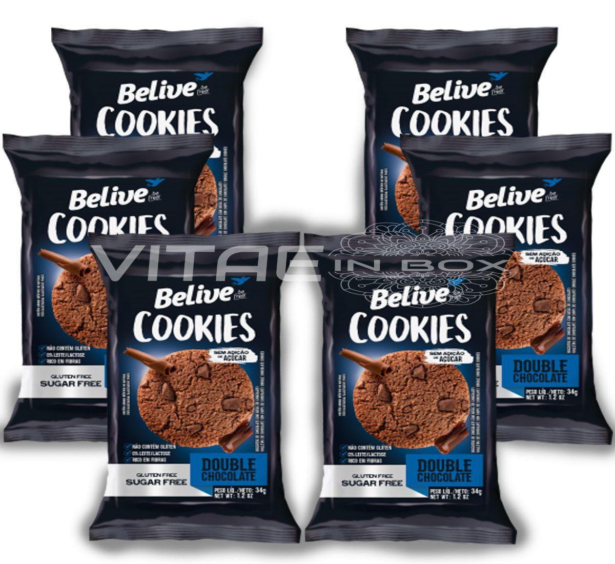 Cookie Chocolate Zero Açúcar Sem Glúten Sem Lactose 06x34g - Belive