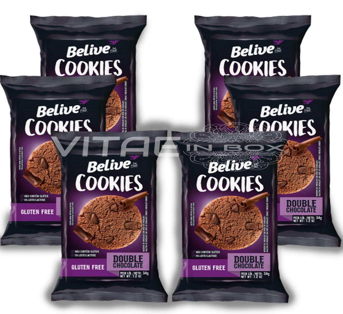 Cookie Double Chocolate Sem Glúten Sem Lactose 06x34g - Belive