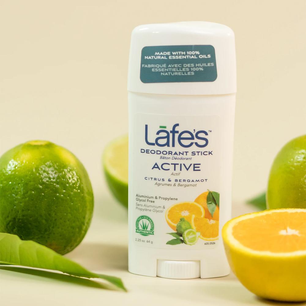 Desodorante Natural Twist Active Citrus 24 horas de Proteção 64g Lafes