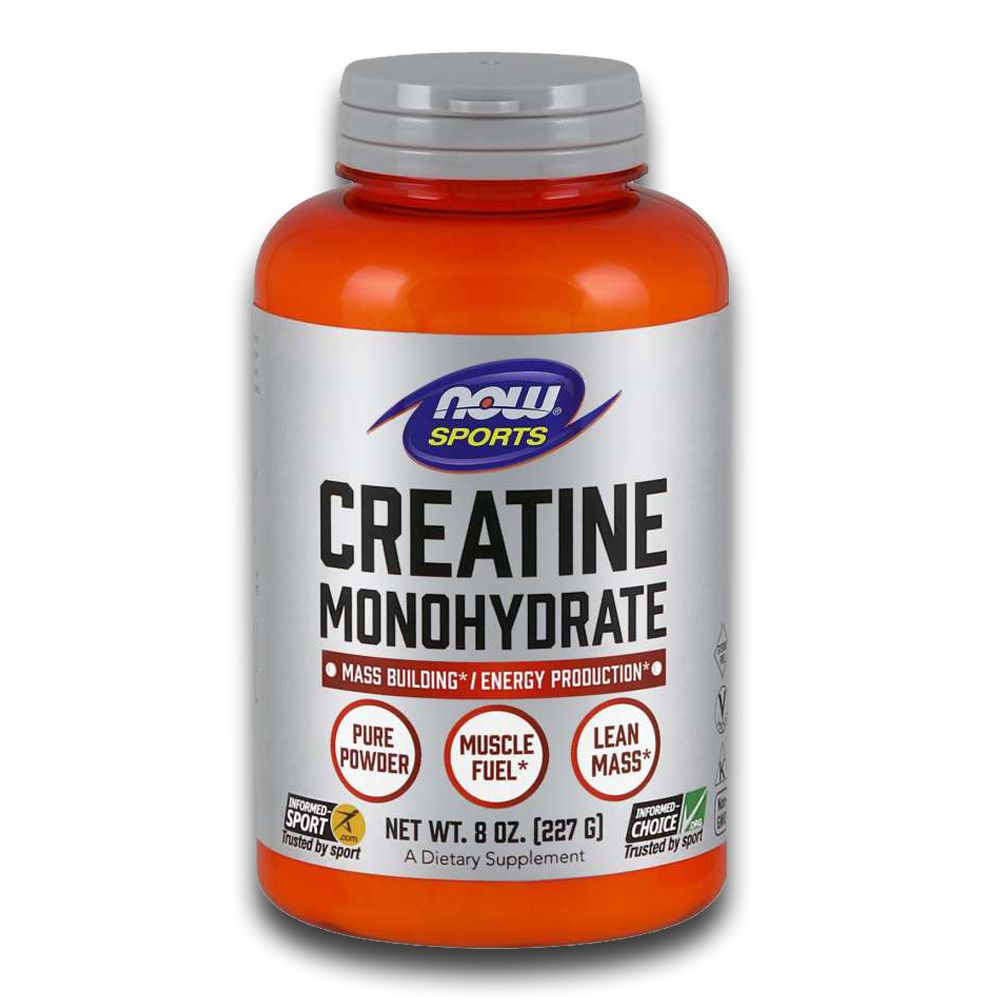 Creatina Monoidratada 227g Creatine Monohydrate Now Sports