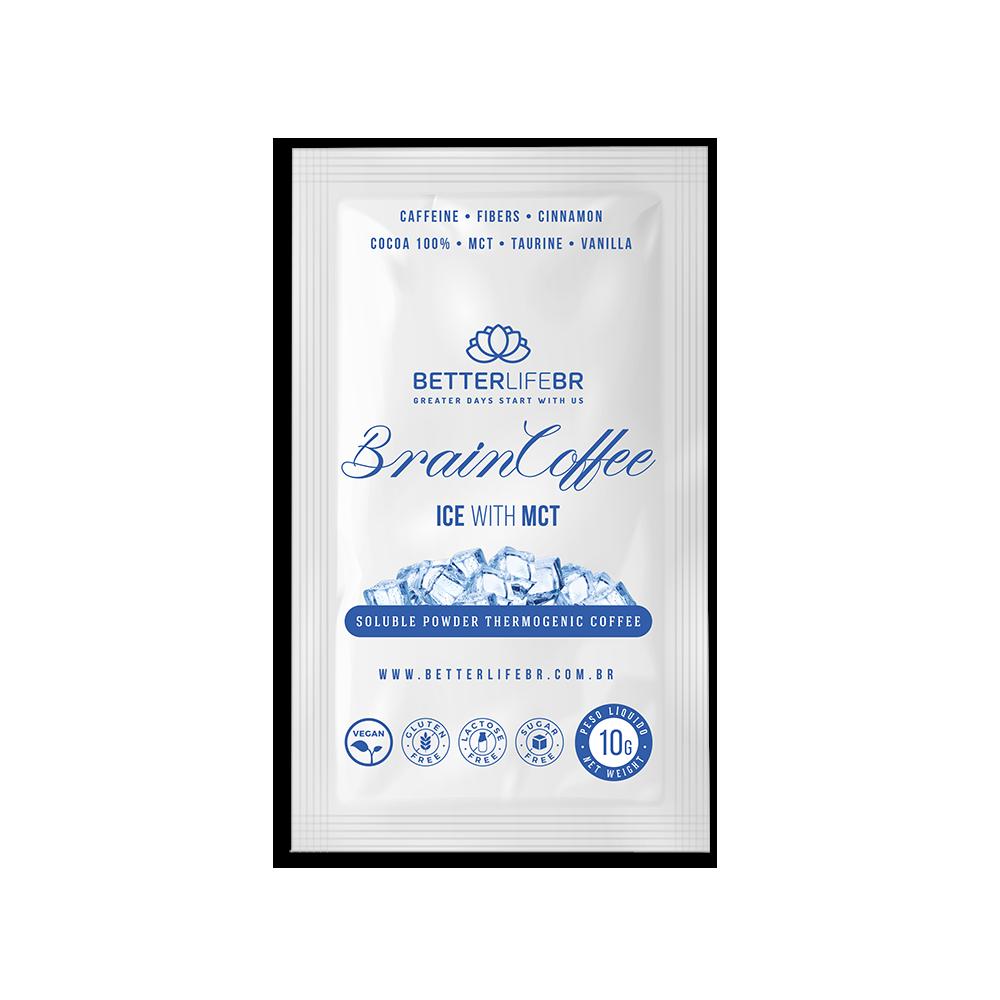Display Brain Coffee ICE com MCT 20 Saches de 10g - Better Life