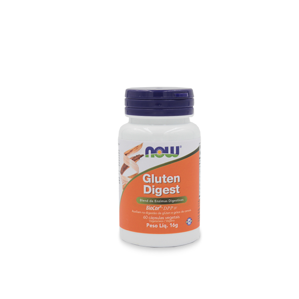 Enzimas Digestivas de Glúten 60 cápsulas - NOW