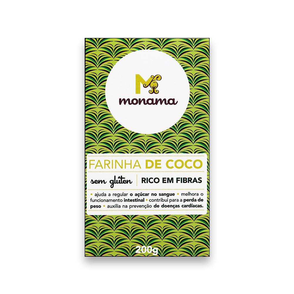 Farinha de Coco Sem Glúten 200g Monama