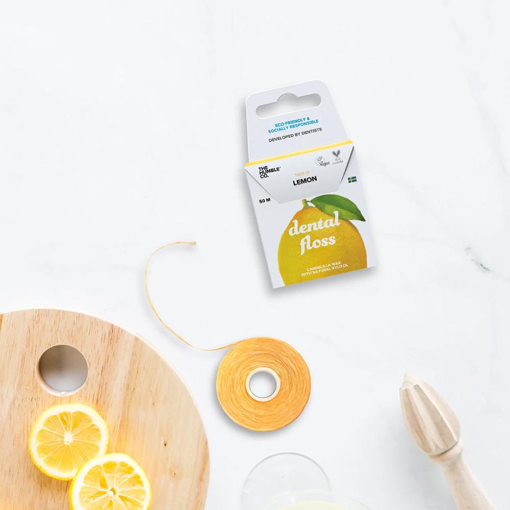 Fio Dental Orgânico Natural Limão 50m The Humble