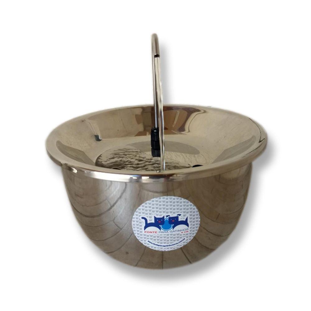 Fonte Bebedouro em Inox 2 litros Cão e Gato 110w