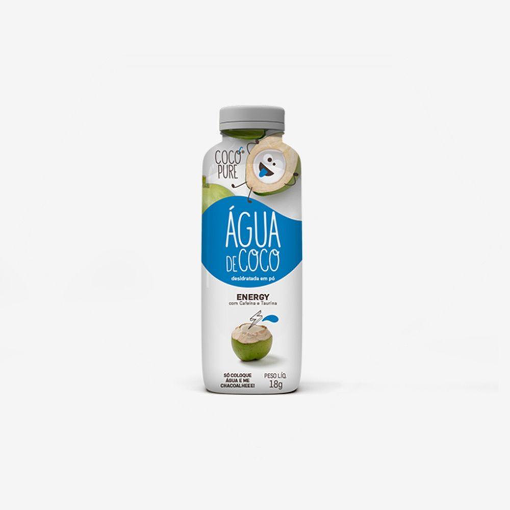 Garrafinha CocoPure Energy Água de Coco em Pó 6un. de 18g - Five Diamonds