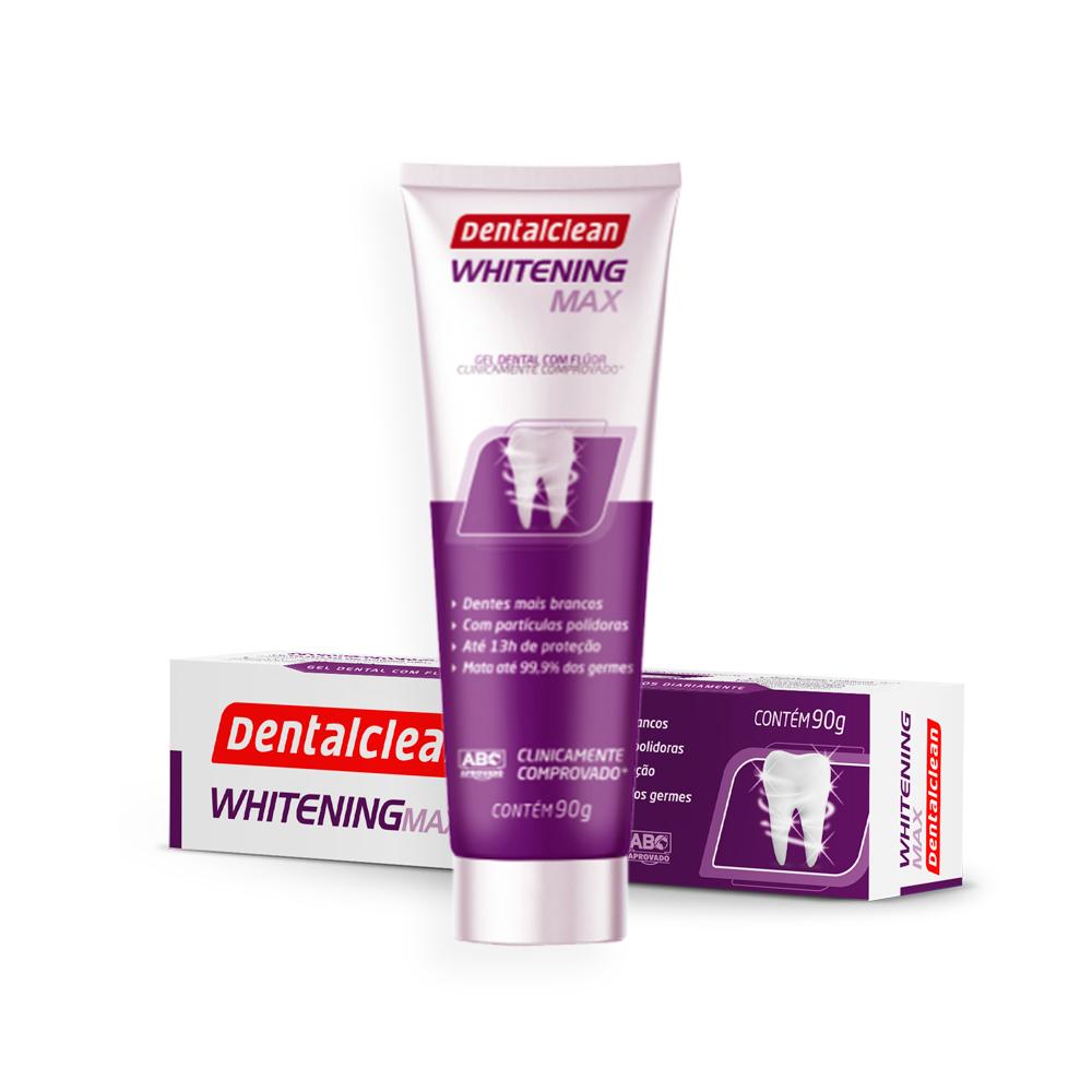 Gel Dental Clareador Whitening Max 90g Dentalclean