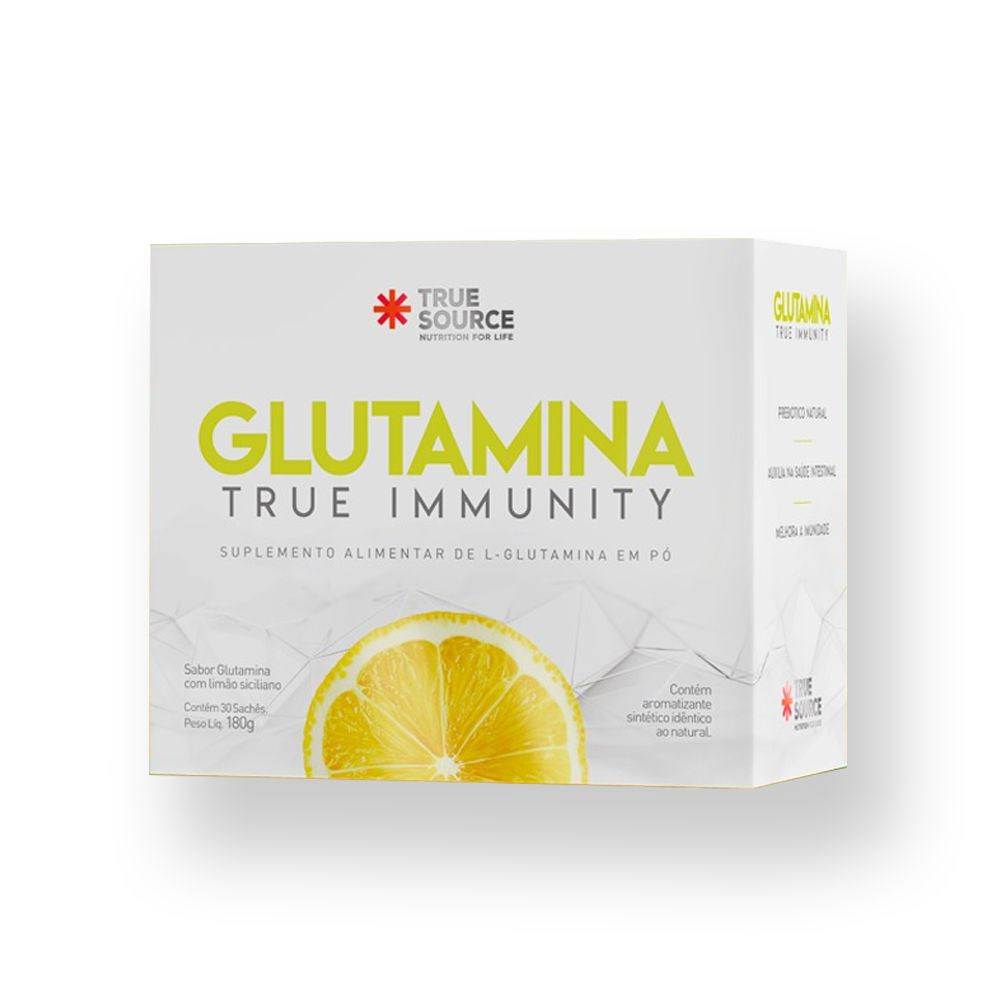 Glutamina True Immunity 30 sachês Limão Siciliano 180g True Source