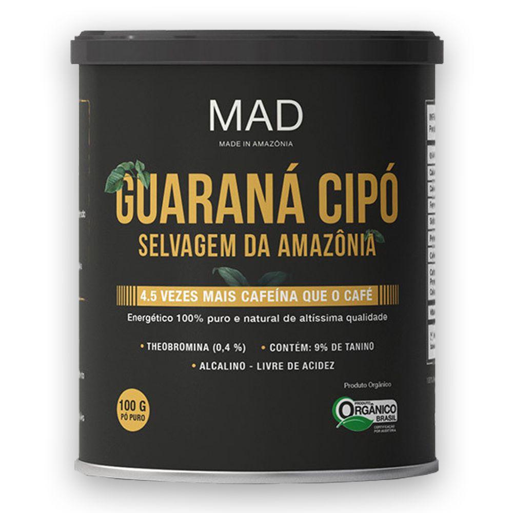 Guaraná Cipó Selvagem da Amazônia Organico em Pó 100g MAD