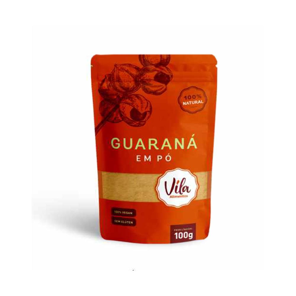 Guarana em Pó Natural Sem Gluten 100g Vila Alimentos