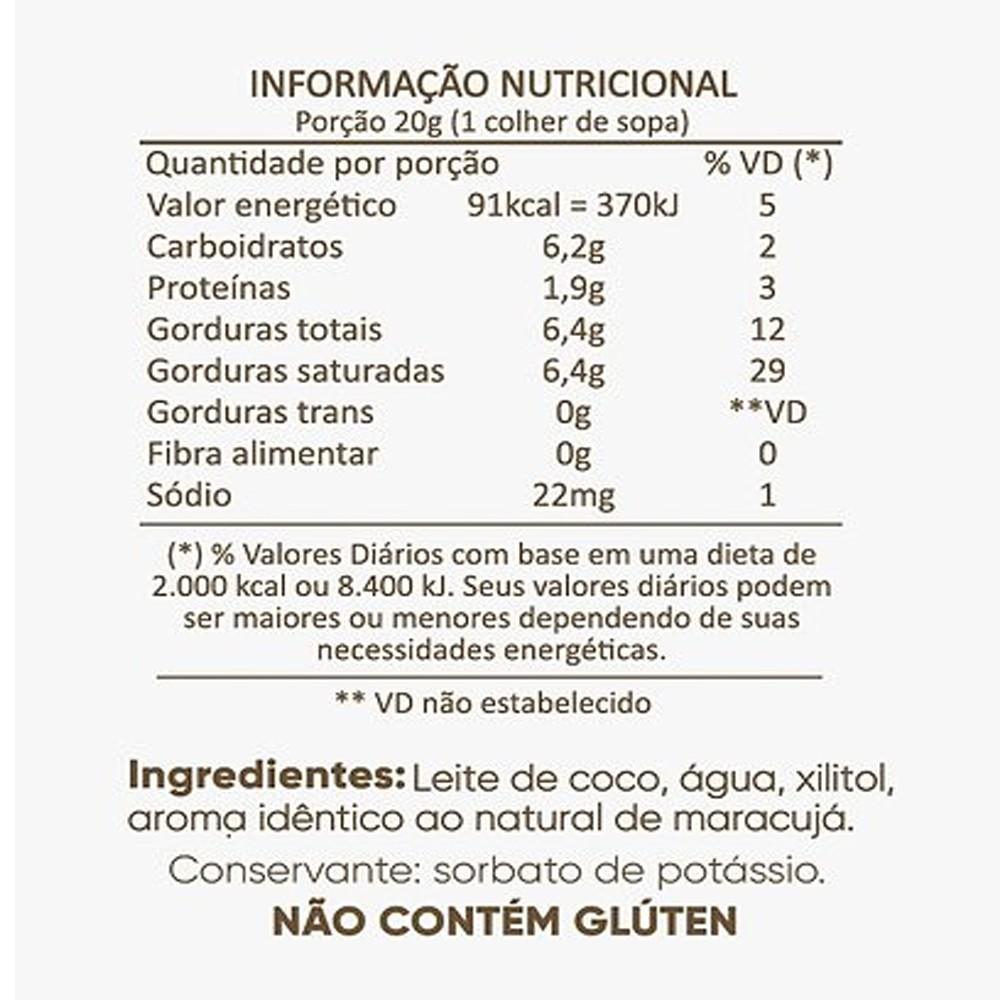 Kit Cocodensado Tradicional Morango Maracuja de Leite de Coco sem Açucar