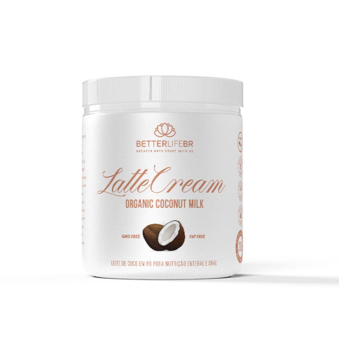 Latte Cream Leite de Coco em Pó Coconut Milk 200g - BetterLife