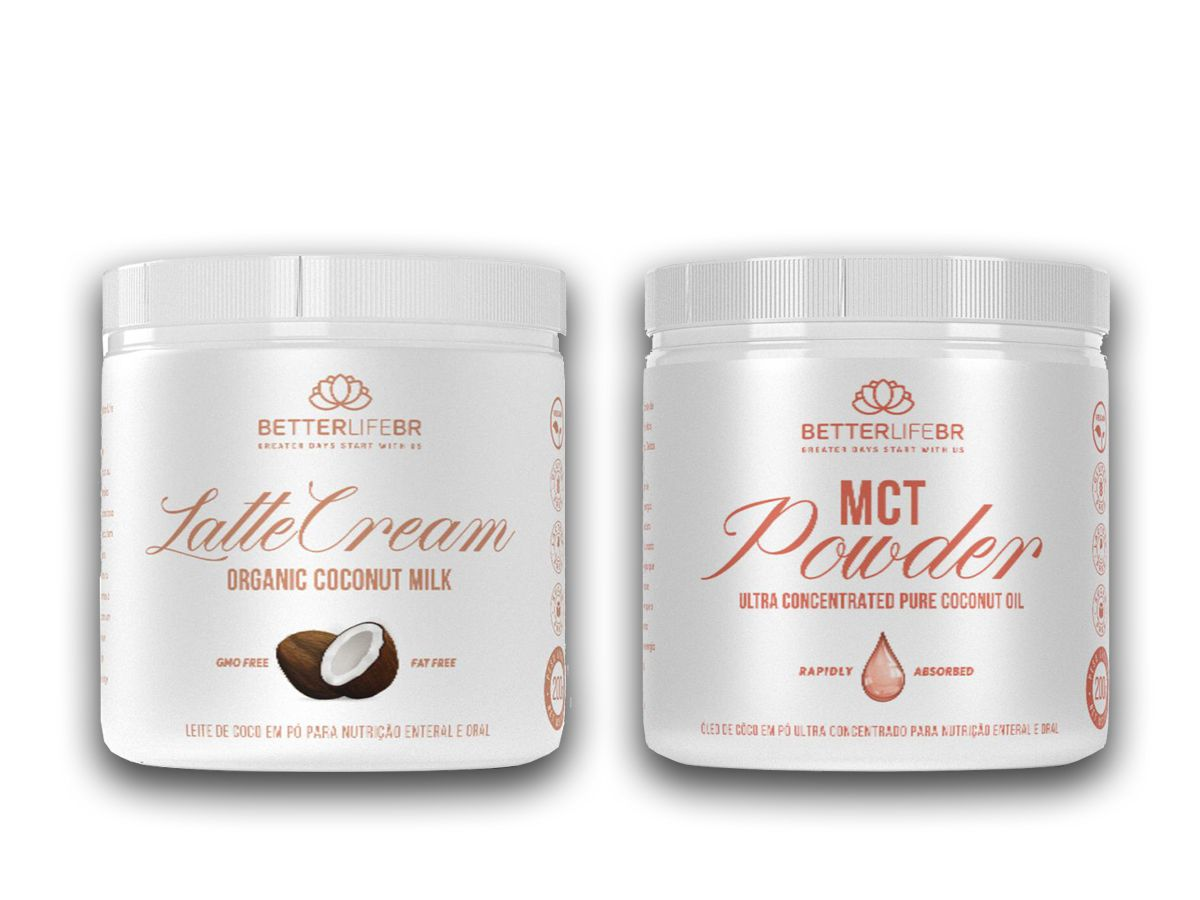 LatteCream Leite de Coco em Pó 200g e MCT Powder 200g - BetterLife