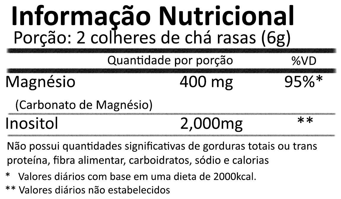 Magnésio Inositol Relax 454g Sabor Natural de Limão - NOW