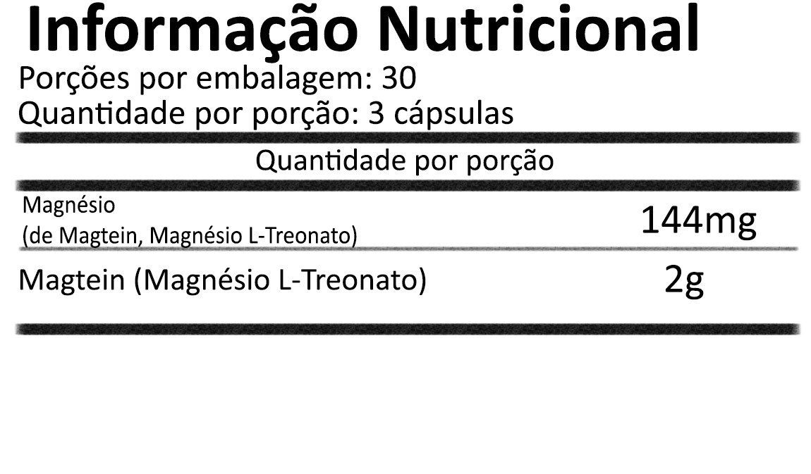 Magtein Magnésio L-Treonato 90 cápsulas NOW