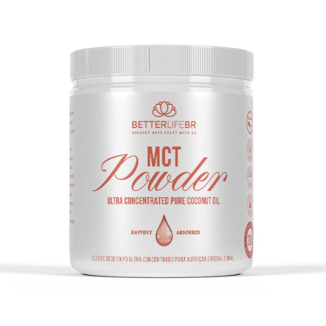 MCT Powder Óleo de Coco Ultra Concentrado em Pó 200g - BetterLife