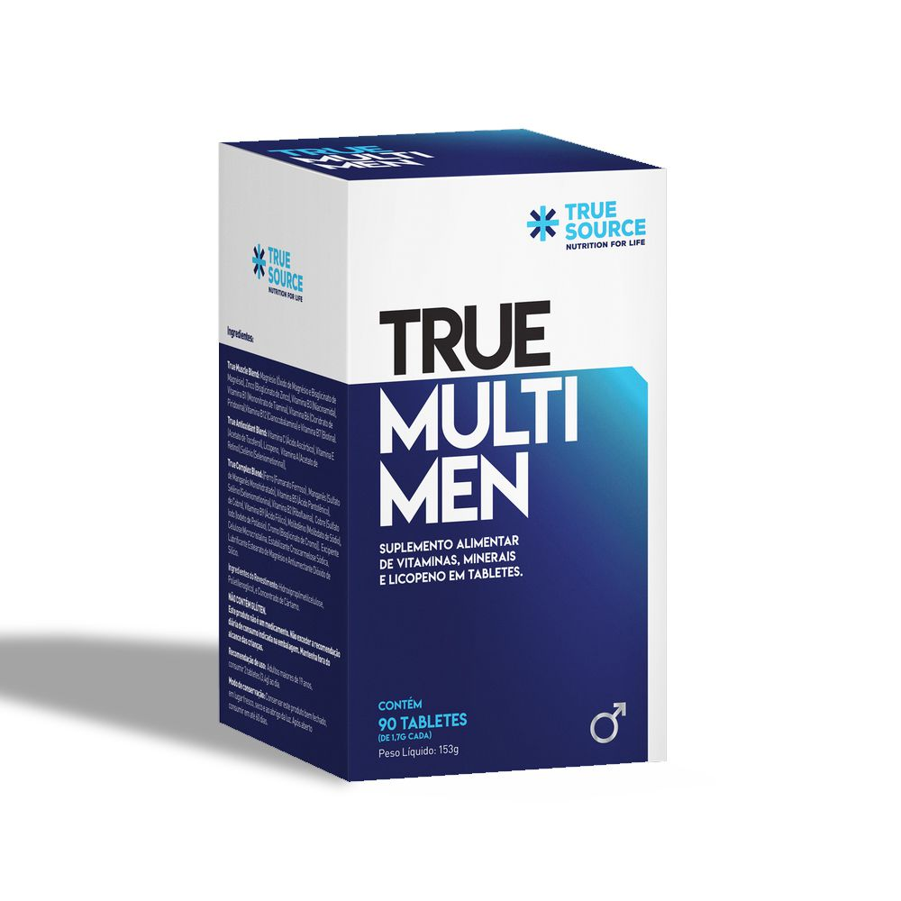 Multivitamínico Homens True Multi Men 90 tabletes - True Source