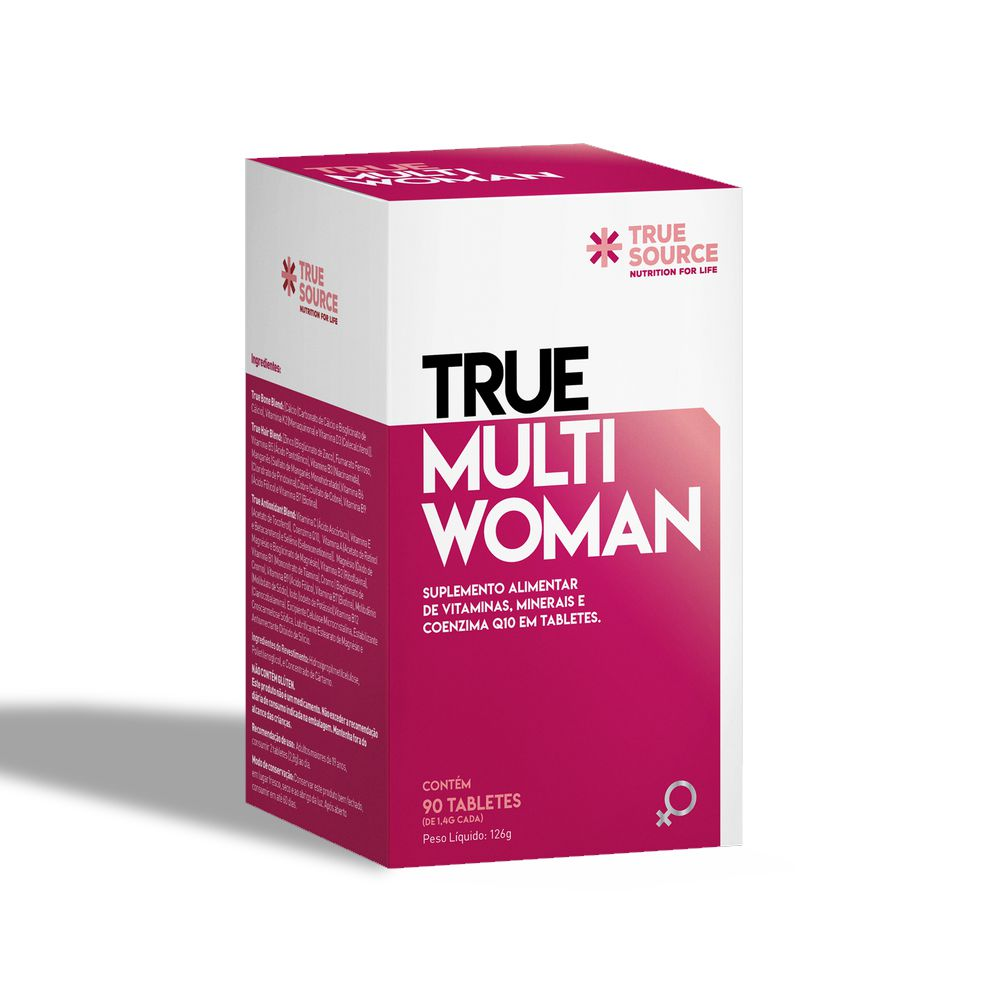 Multivitamínico True Multi Woman com Coenzima Q10 90 tabletes - True Source
