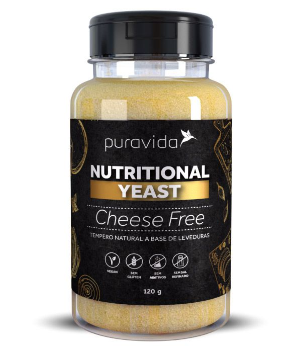 Nutritional Yeast Cheese Free Levedura Nutricional Queijo Tempero Natural 120g - Puravida