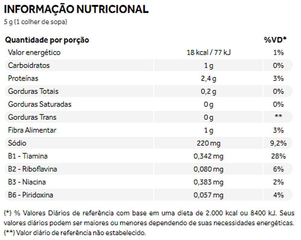 Nutritional Yeast Levedura Nutricional Tempero Natural 120g - Puravida
