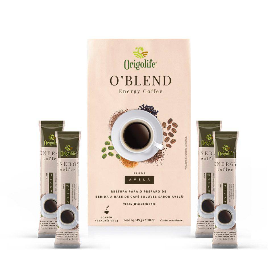 O'BLEND Energy Coffee Café Termogênico 15 sachês de 3g - Origolife