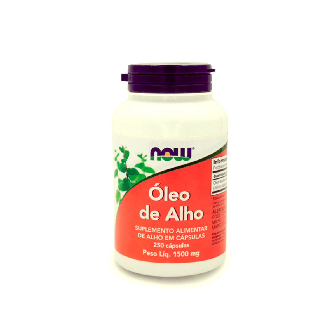 Óleo de Alho 1500mg 250 cápsulas NOW
