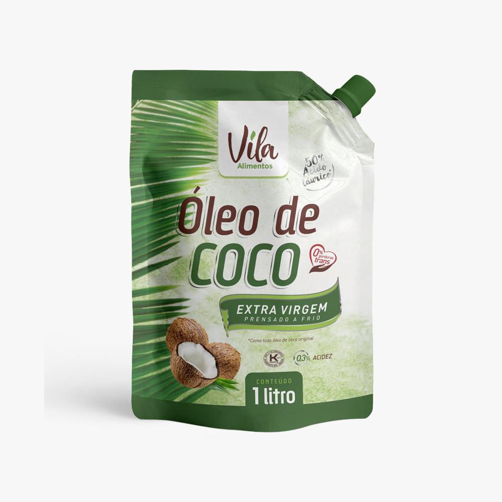 Óleo de Coco Extra Virgem 1 Litro Vila Alimentos