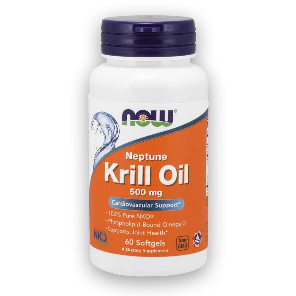 Óleo Neptune Krill Oil 500mg 60 cápsulas NOW